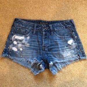 Abercrombie denim shorts low rise